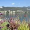 Giardino delle erbe danzanti - scorcio del lago con Sarnico